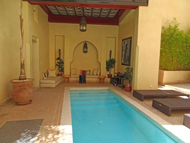Riad de luxe marrakech riad de charme avec piscine et hammam for Riad marrakech piscine chauffee