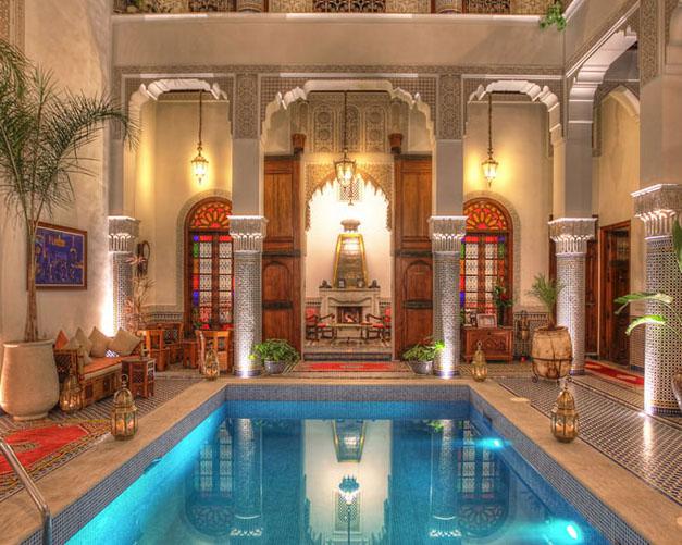 H tels vip maroc riads de charme marrakech riads de for Hotel fes piscine